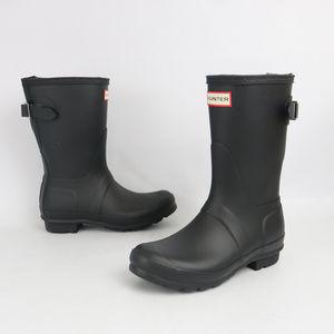 Hunter Womens Orignial Short Black Rain Boots